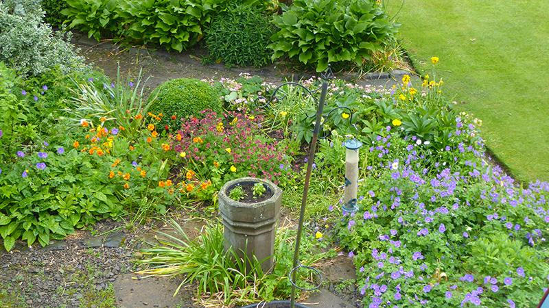 sundial garden from above