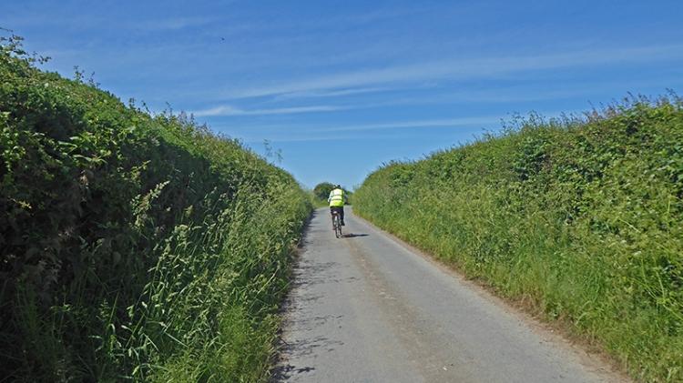Mrs T cycling