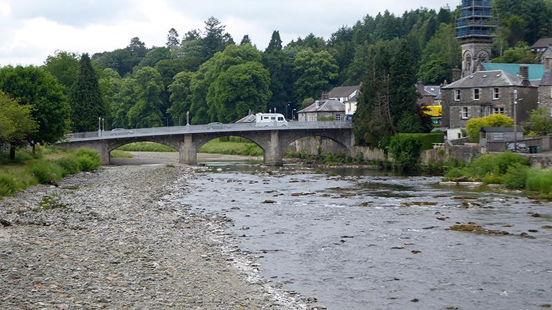 River Esk low