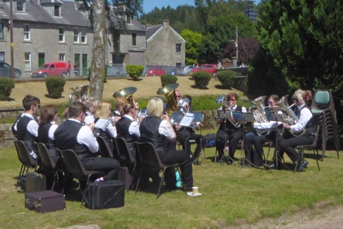 town band at fete