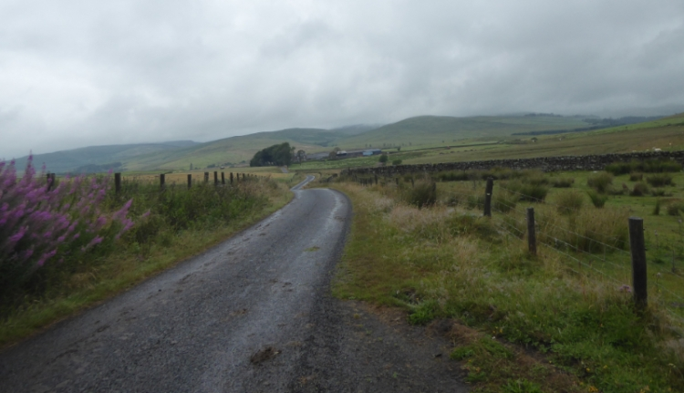 Bloch road on wet day