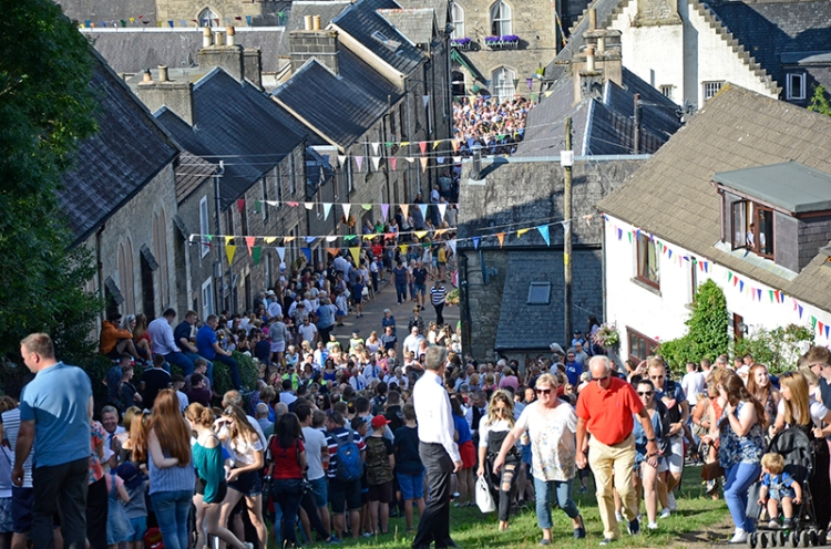 Common Riding 2018 crossing the Kirk Wynd 1