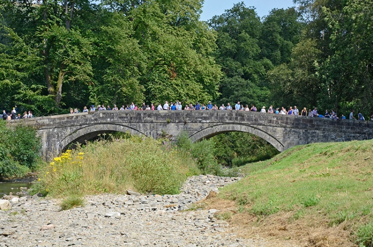 Common Riding 2018 crossing the water3