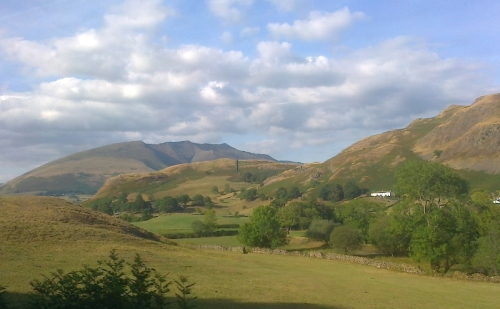 Between Grasmere and Keswick - from the top of a double decker bus