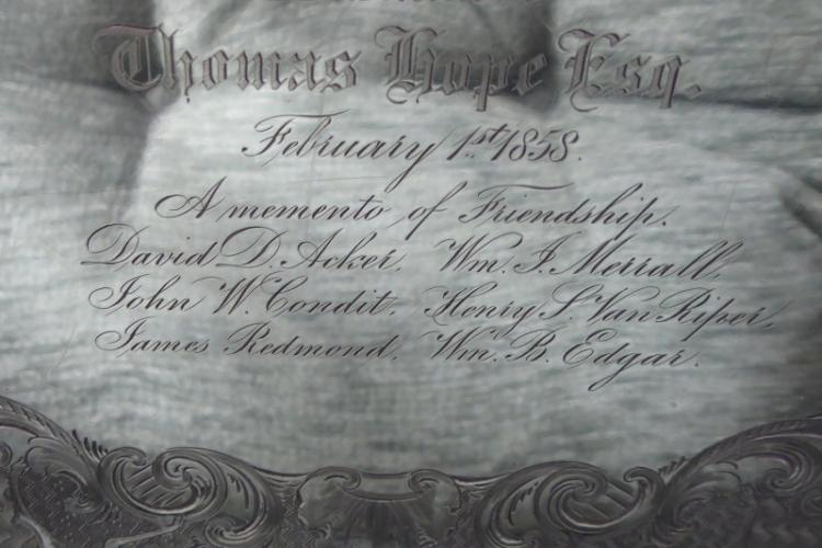 Thomas Hope Tray inscription
