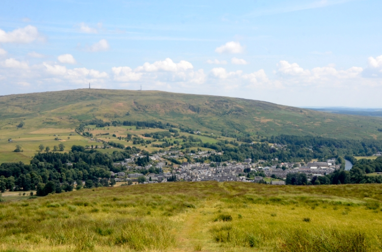 View of Langholm from Meikleholm Hill