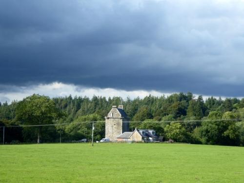 Hollows Tower under a cloud