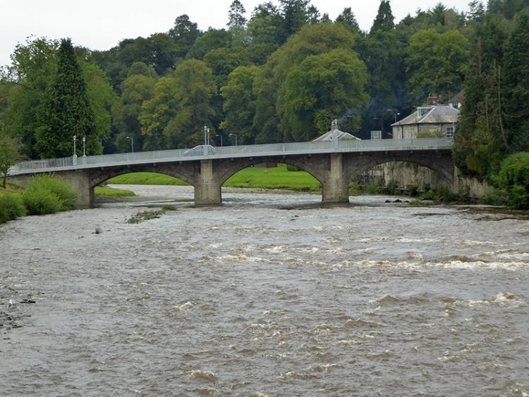 Langholm Bridge in early September