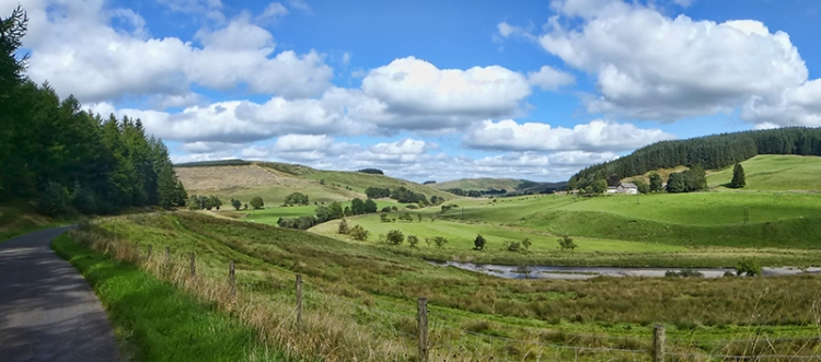 Upper esk valley panorama