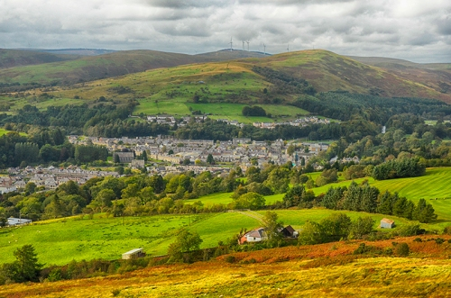 view of Langholm from Whita