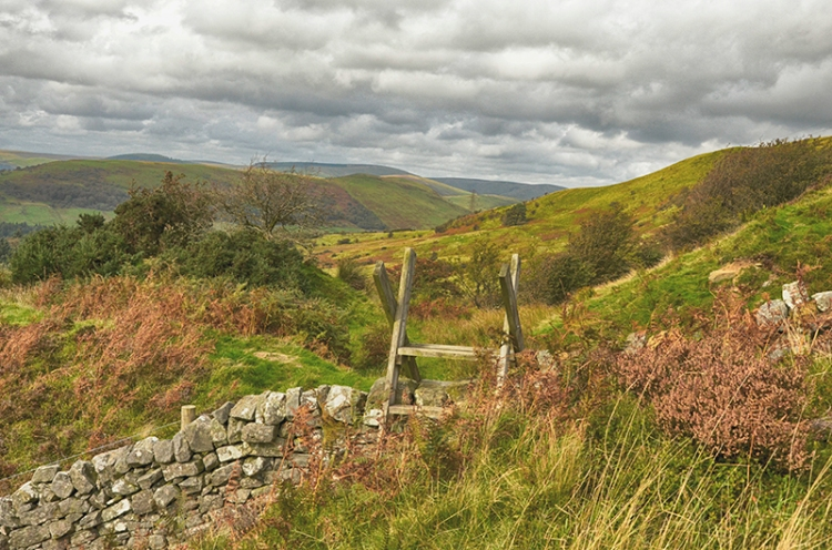 wall and stile at quarry