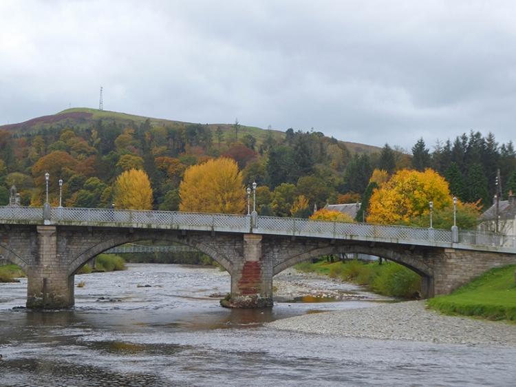 autumn over the town bridge