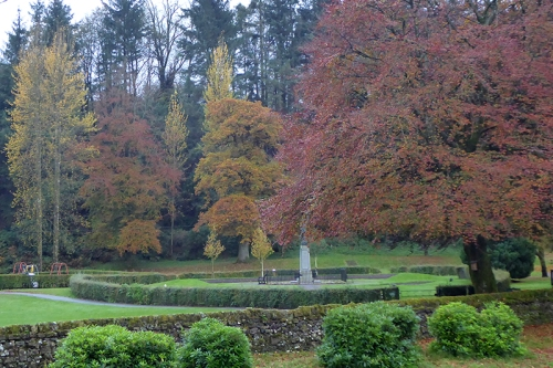 dull autumn colour park