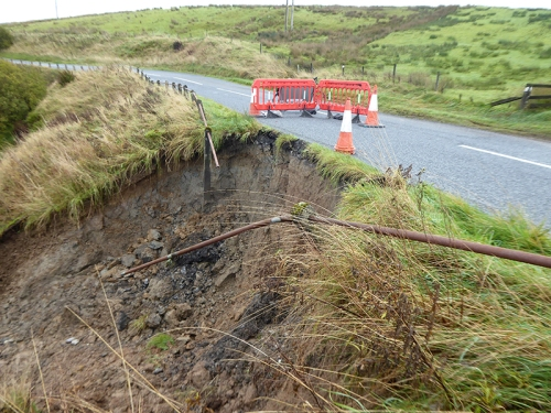 Lockerbie road landslip