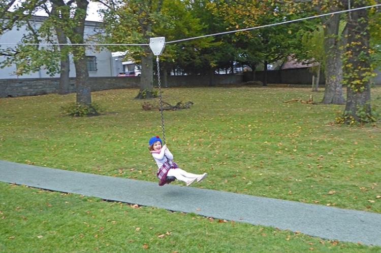 Matilda at Pilrig on flying fox