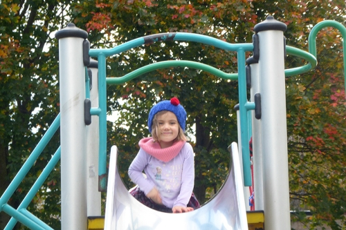 Matilda at Pilrig on slide