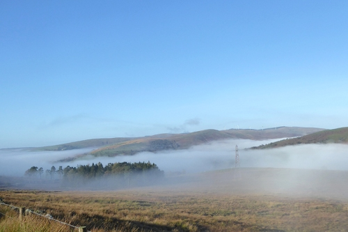 mist from hill road