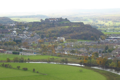 View over Stirling with castle