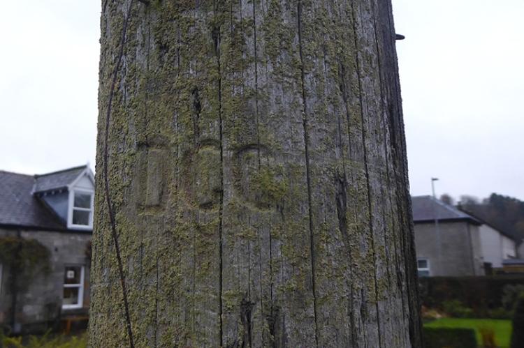 garden pole carving