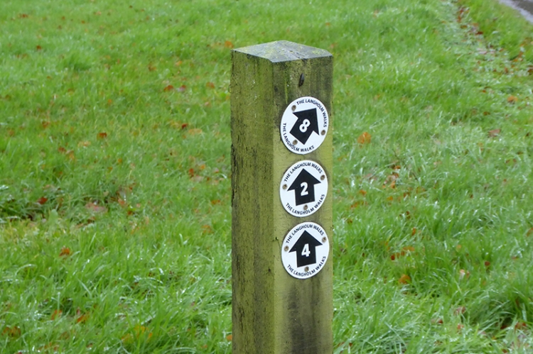 Langholm Walks signs