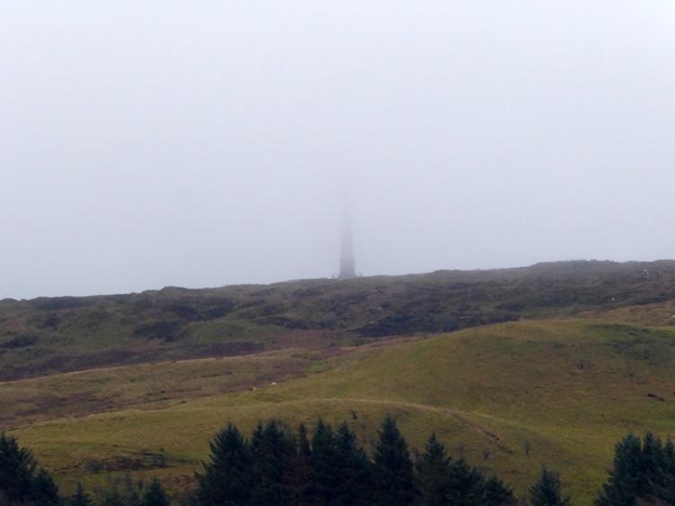 misty monument