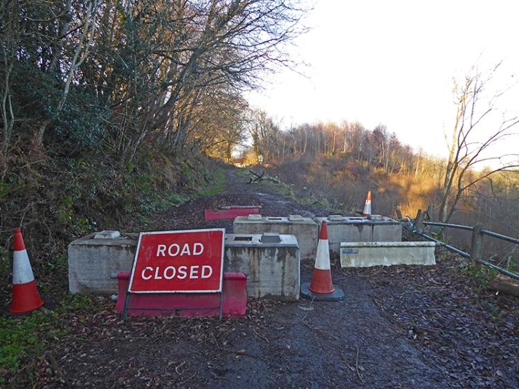 Tarras road 2018 closed