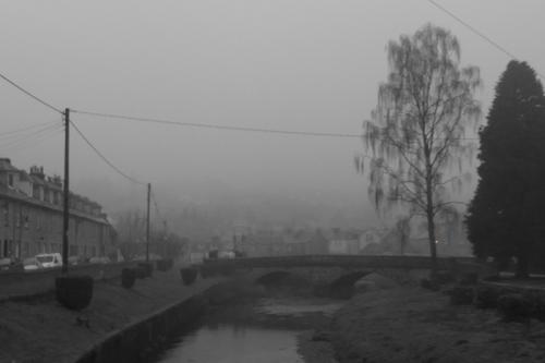 black day from park bridge