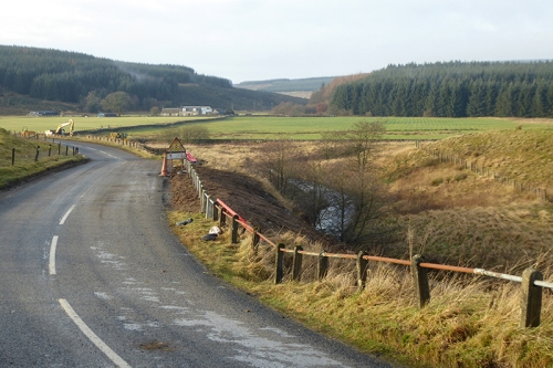 first lockerbie roadworks completed