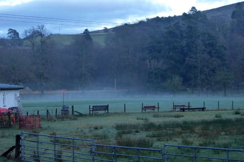 mist on cricket pitch