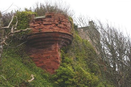 ivy covered turret