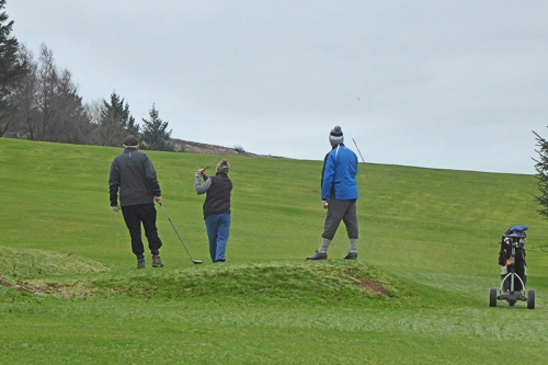 january golfers