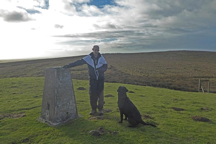 man and dog on warbla