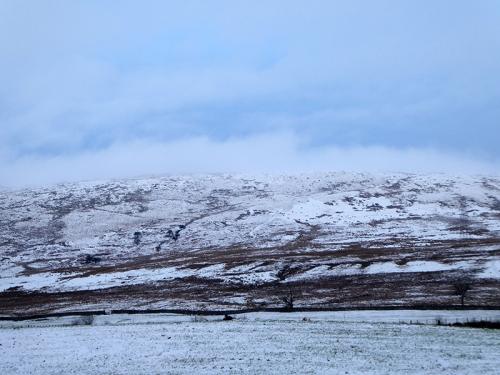 sloud on snowy hill