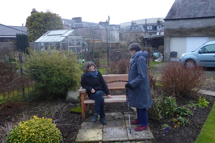 sue and mrs t at bench