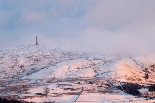 sunlit snowy whita