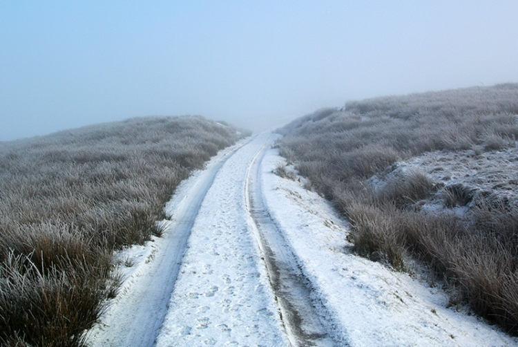 track to warbla in snow