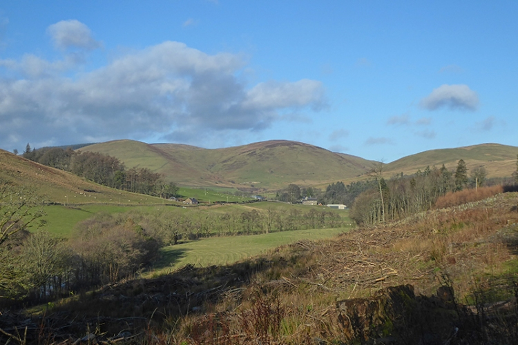view up esk valley from north lodge
