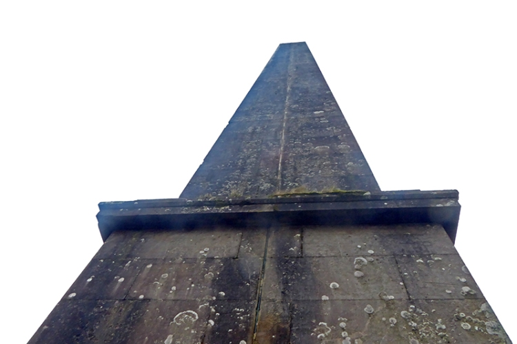 worms eye view of monument
