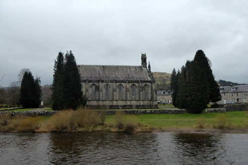 church on a grey day