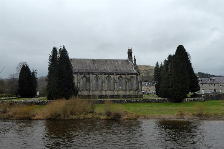 church on a grey day