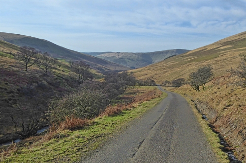 looking back into Ewes valley at Fiddleton