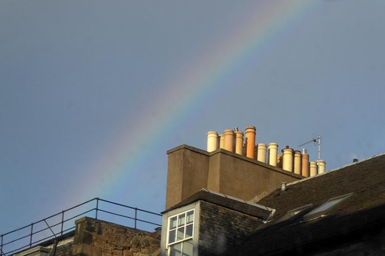 rainbow in Edinburgh