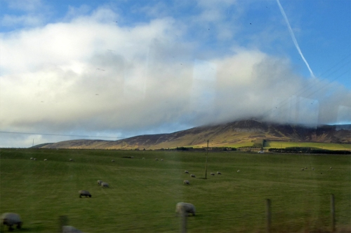 Tinto hill from train