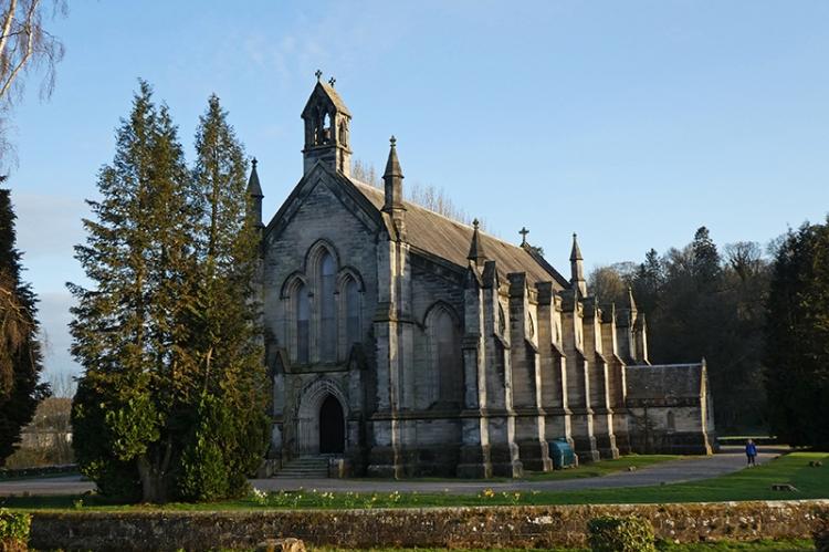 church in low sun