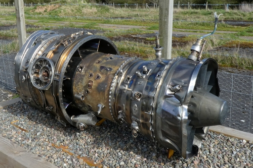 crashed jet engine