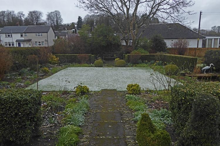 snowy lawn march