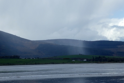 criffel with rain shower
