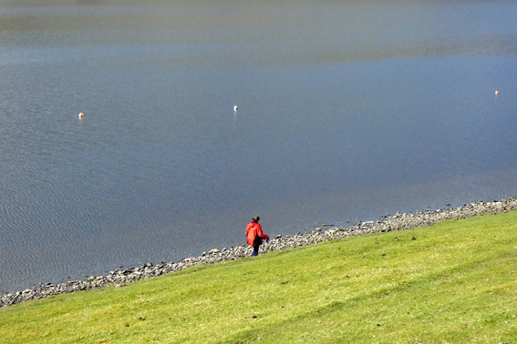 Mrs T at St Mary's Loch