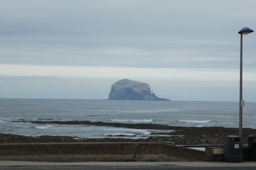 bass rock from afar
