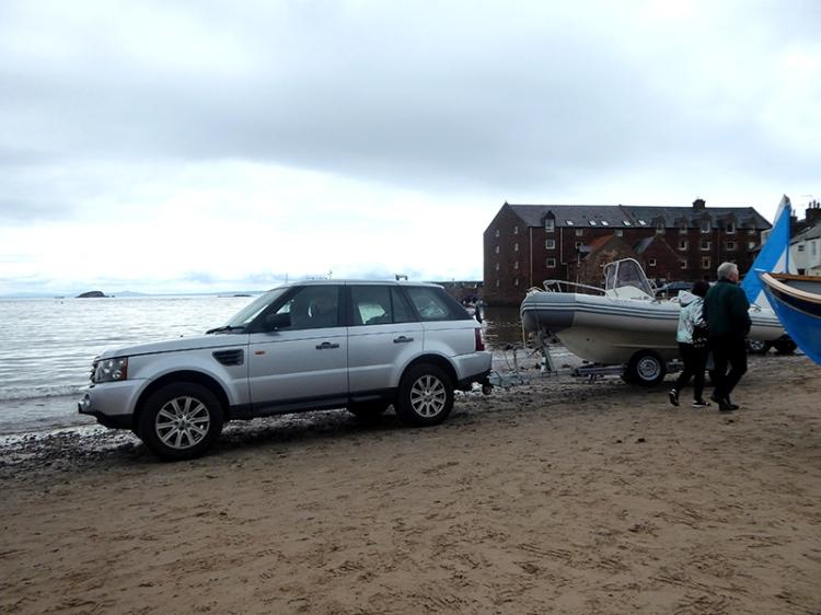 car on beach NB